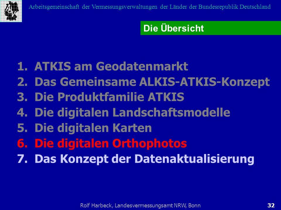 32Rolf Harbeck, Landesvermessungsamt NRW, Bonn Arbeitsgemeinschaft der Vermessungsverwaltungen der Länder der Bundesrepublik Deutschland 1.ATKIS am Ge