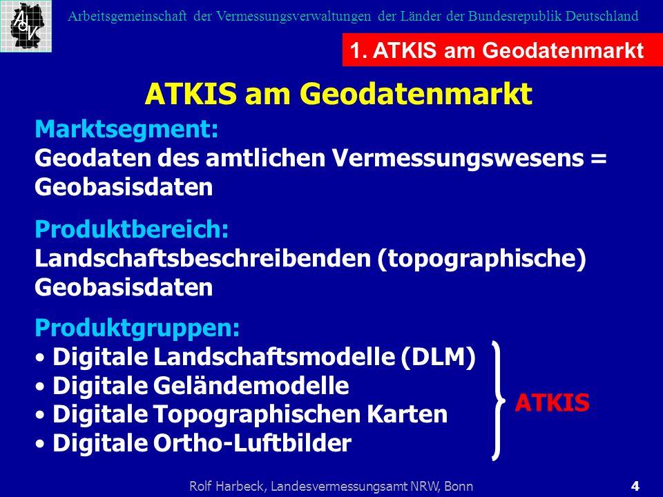 4Rolf Harbeck, Landesvermessungsamt NRW, Bonn Arbeitsgemeinschaft der Vermessungsverwaltungen der Länder der Bundesrepublik Deutschland 1. ATKIS am Ge