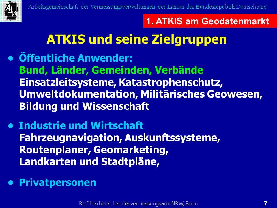 7Rolf Harbeck, Landesvermessungsamt NRW, Bonn Arbeitsgemeinschaft der Vermessungsverwaltungen der Länder der Bundesrepublik Deutschland 1. ATKIS am Ge