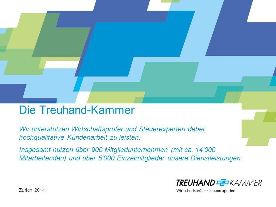 Die Treuhand-Kammer Wir unterstützen Wirtschaftsprüfer und Steuerexperten dabei, hochqualitative Kundenarbeit zu leisten. Insgesamt nutzen über 900 Mi