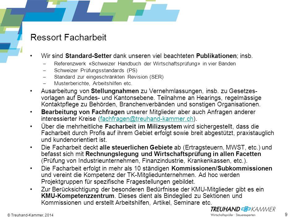 Ressort Facharbeit Wir sind Standard-Setter dank unseren viel beachteten Publikationen; insb. Referenzwerk «Schweizer Handbuch der Wirtschaftsprüfung»
