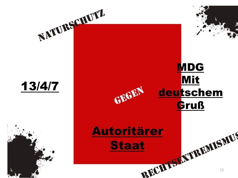 MDG Mit deutschem Gruß 13/4/7 Autoritärer Staat 11