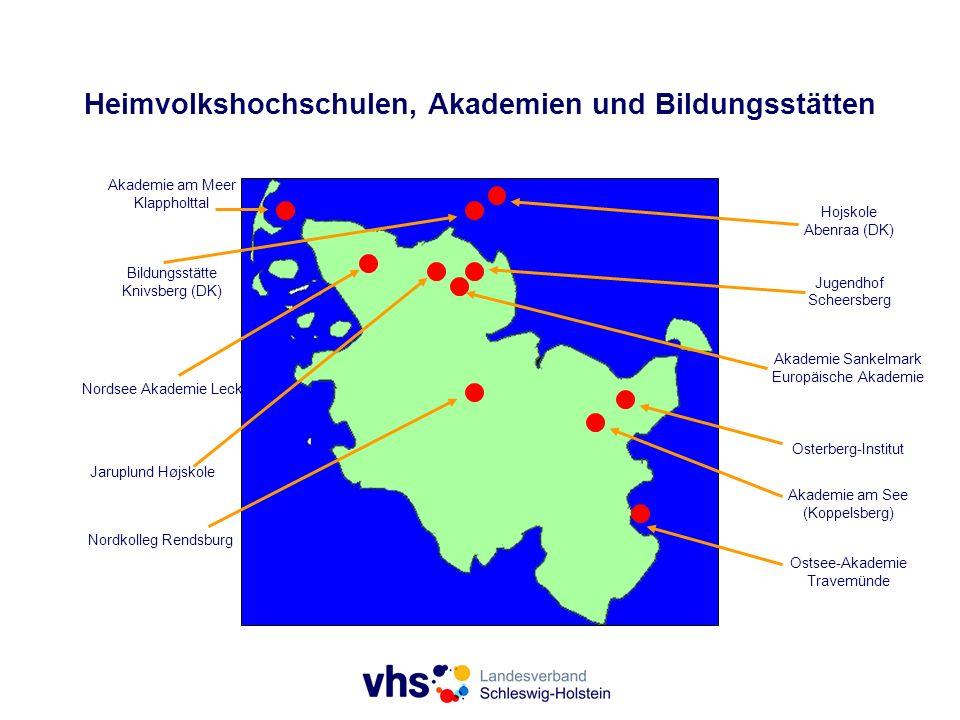 Heimvolkshochschulen, Akademien und Bildungsstätten Akademie am Meer Klappholttal Bildungsstätte Knivsberg (DK) Akademie Sankelmark Europäische Akadem
