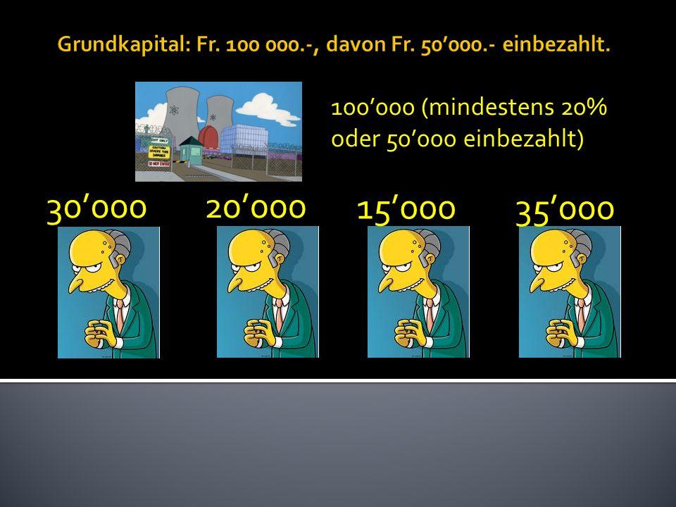 100000 (mindestens 20% oder 50000 einbezahlt) 3000020000 15000 35000
