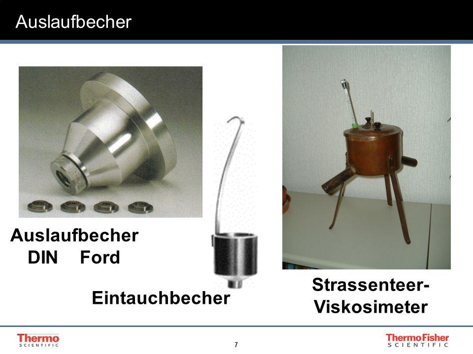 7 Strassenteer- Viskosimeter Auslaufbecher DIN Ford Auslaufbecher Eintauchbecher
