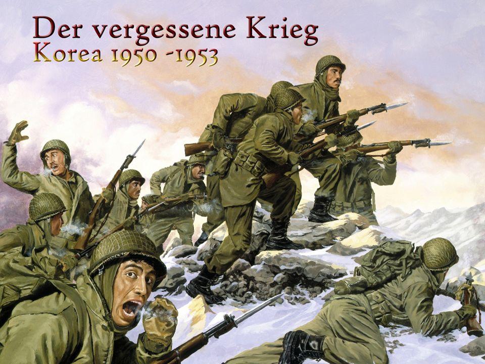 25.Juni 1950 Angriff nordkoreanischer Truppen und Vorstoss bis zum Pusan Perimeter.