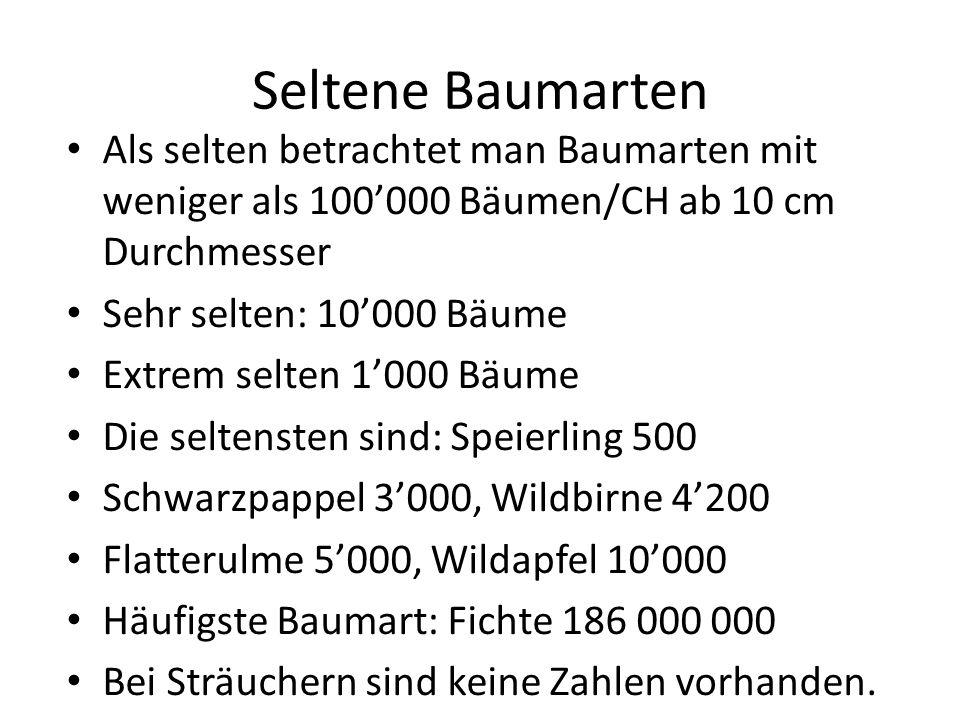 Artenreiche Auenwälder Die artenreichsten Oekosysteme in der Schweiz sind die Auenwälder.