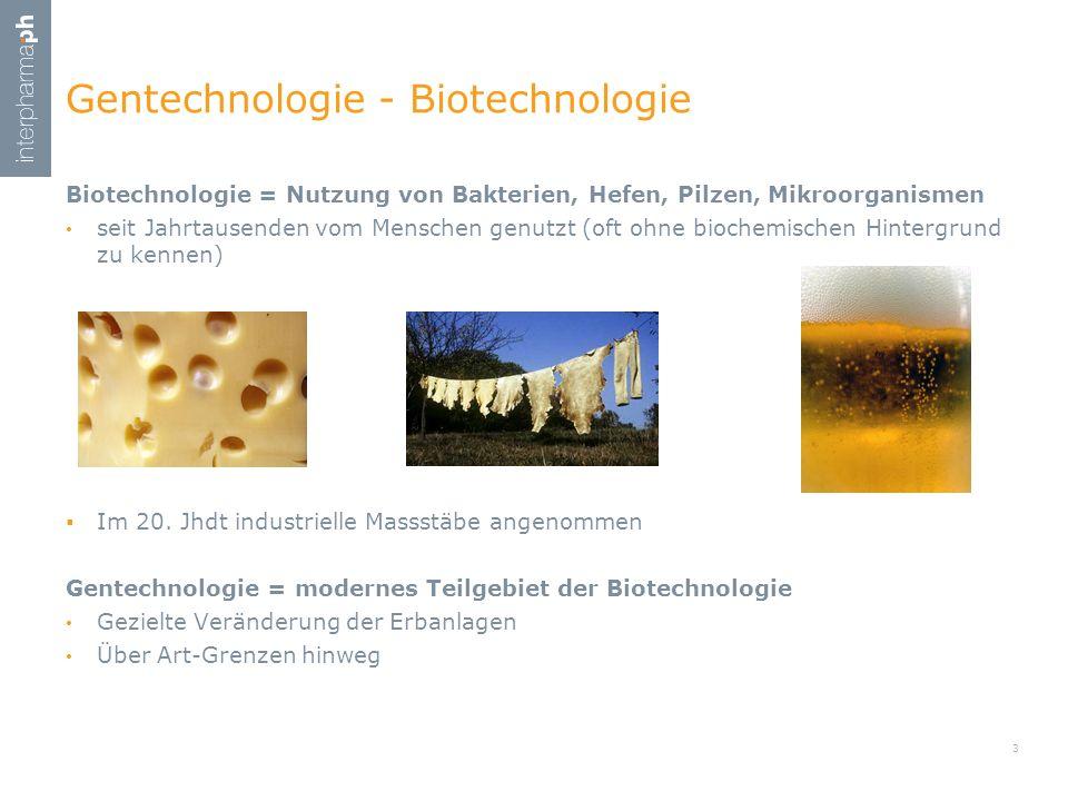 Biotechnologie = Nutzung von Bakterien, Hefen, Pilzen, Mikroorganismen seit Jahrtausenden vom Menschen genutzt (oft ohne biochemischen Hintergrund zu