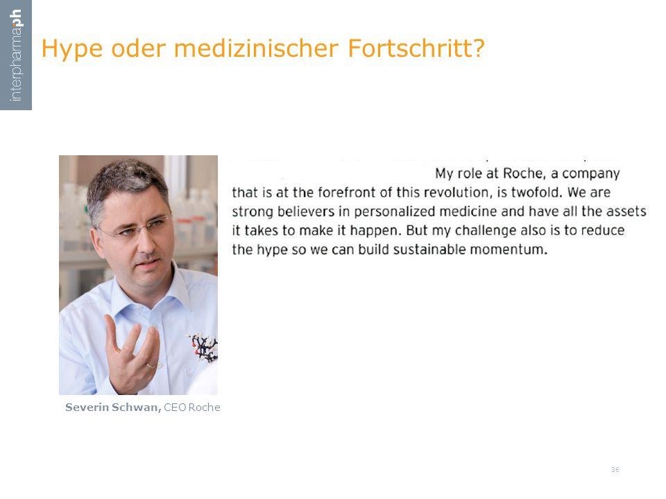 Hype oder medizinischer Fortschritt? Severin Schwan, CEO Roche 36