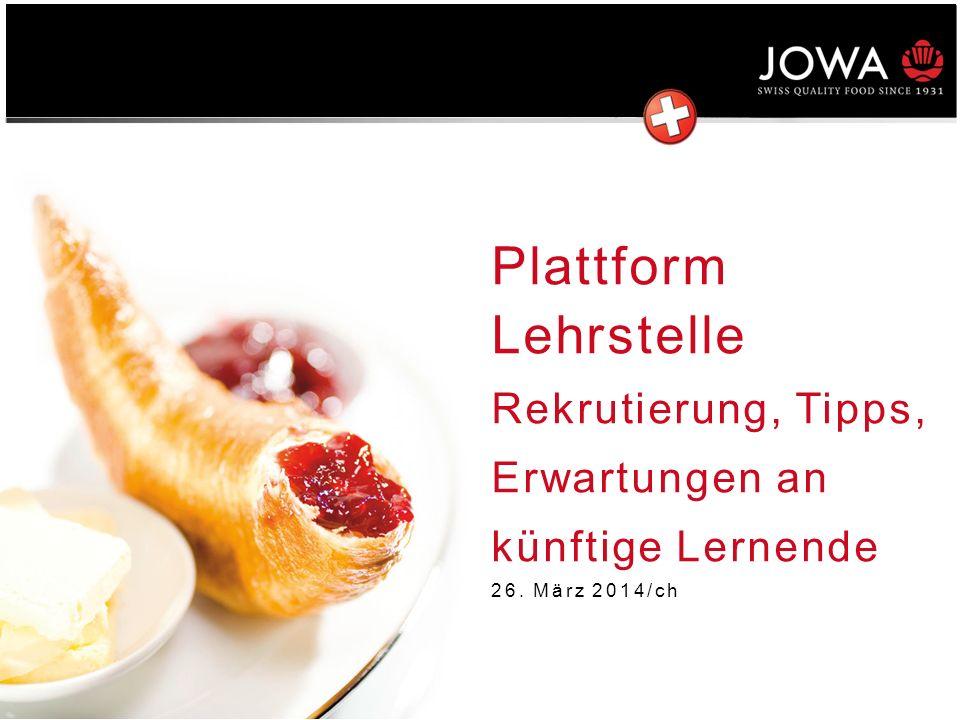 Plattform Lehrstelle Rekrutierung, Tipps, Erwartungen an künftige Lernende 26. März 2014/ch