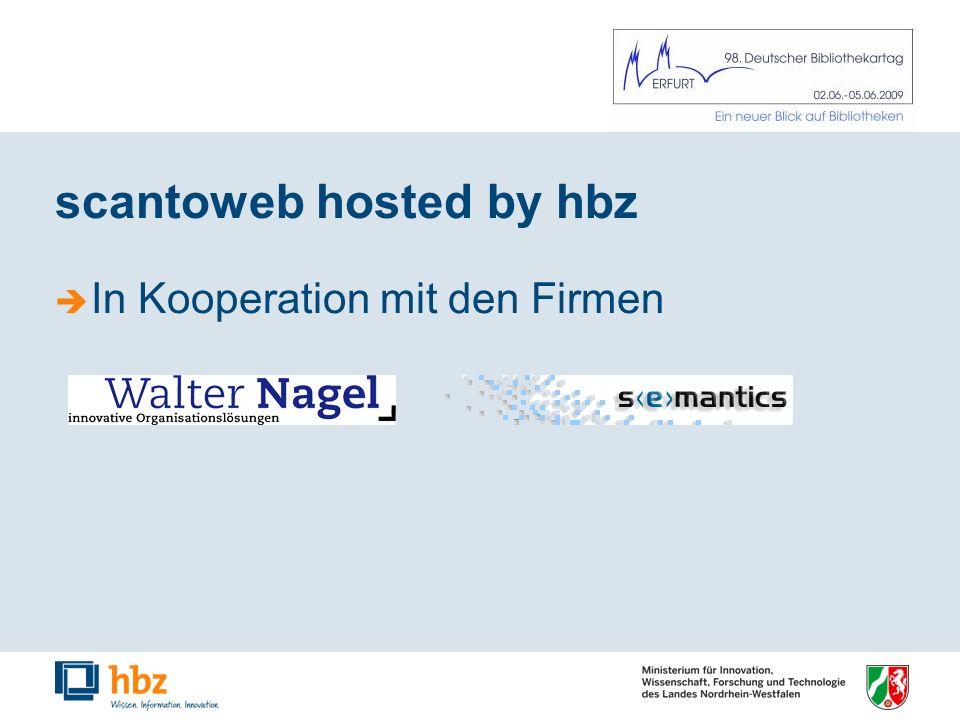 scantoweb hosted by hbz In Kooperation mit den Firmen