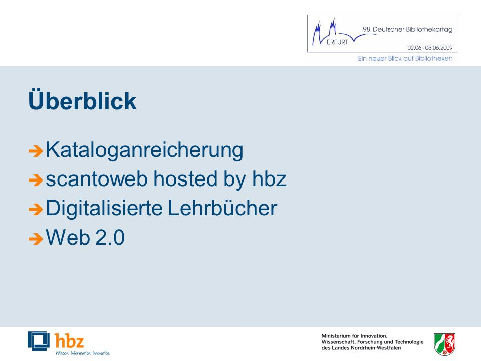scantoweb hosted by hbz - Kunden