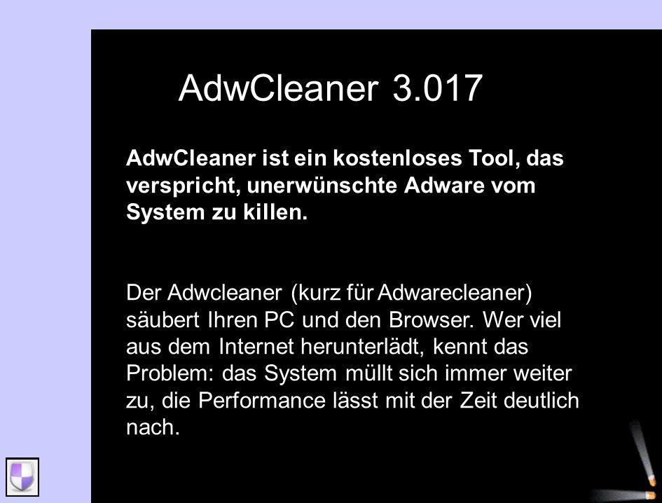 AdwCleaner ist ein kostenloses Tool, das verspricht, unerwünschte Adware vom System zu killen. Der Adwcleaner (kurz für Adwarecleaner) säubert Ihren P
