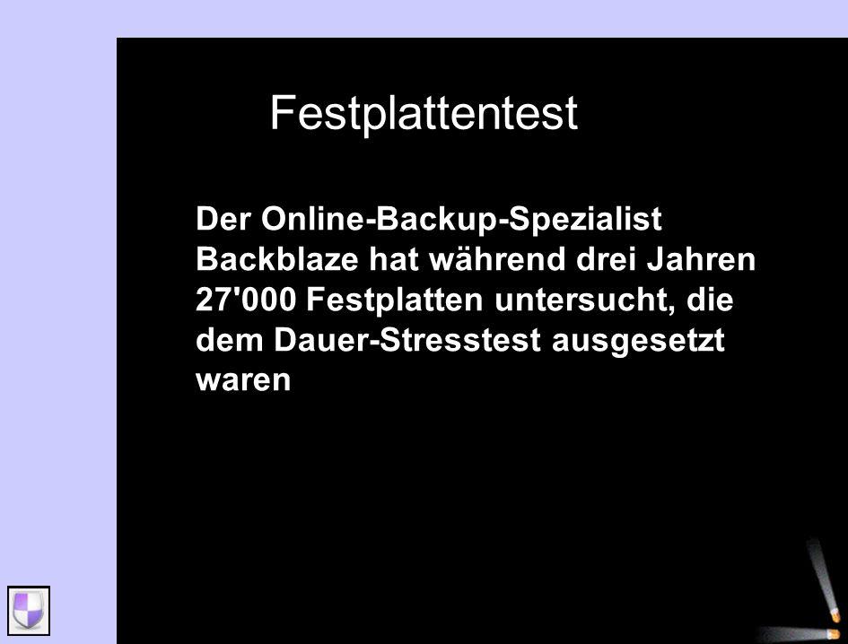 Der Online-Backup-Spezialist Backblaze hat während drei Jahren 27'000 Festplatten untersucht, die dem Dauer-Stresstest ausgesetzt waren.
