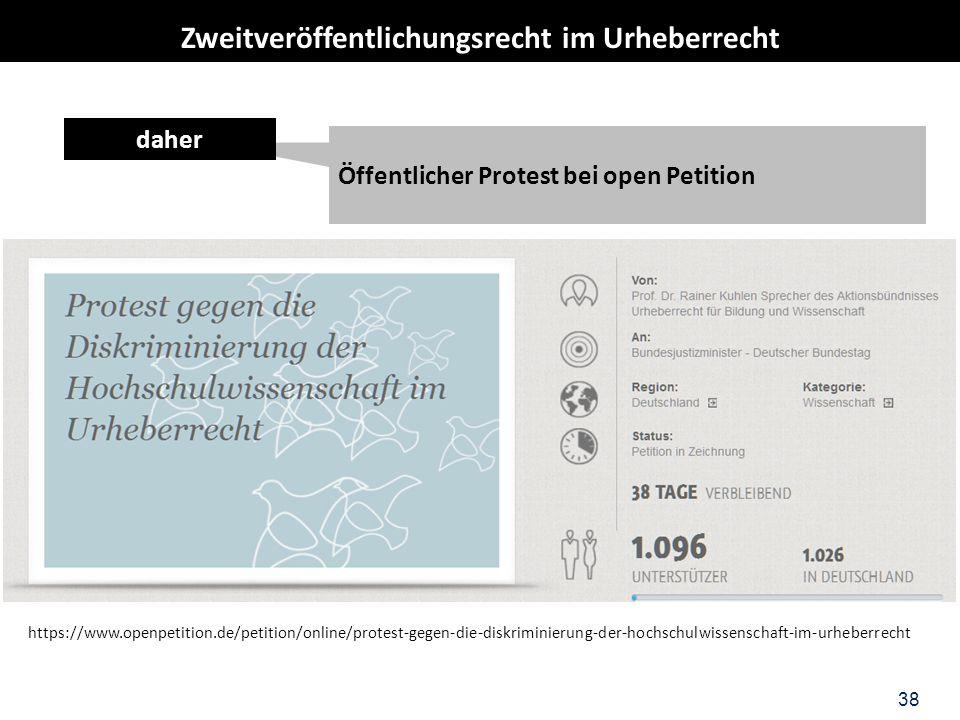 38 Öffentlicher Protest bei open Petition daher https://www.openpetition.de/petition/online/protest-gegen-die-diskriminierung-der-hochschulwissenschaf