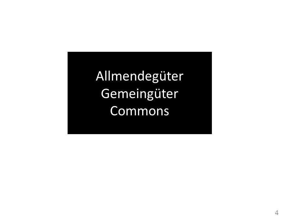 4 Allmendegüter Gemeingüter Commons
