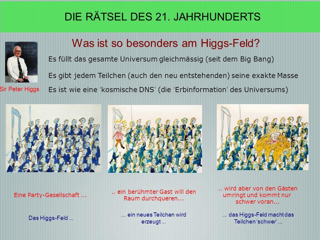 Sir Peter Higgs Was ist so besonders am Higgs-Feld.