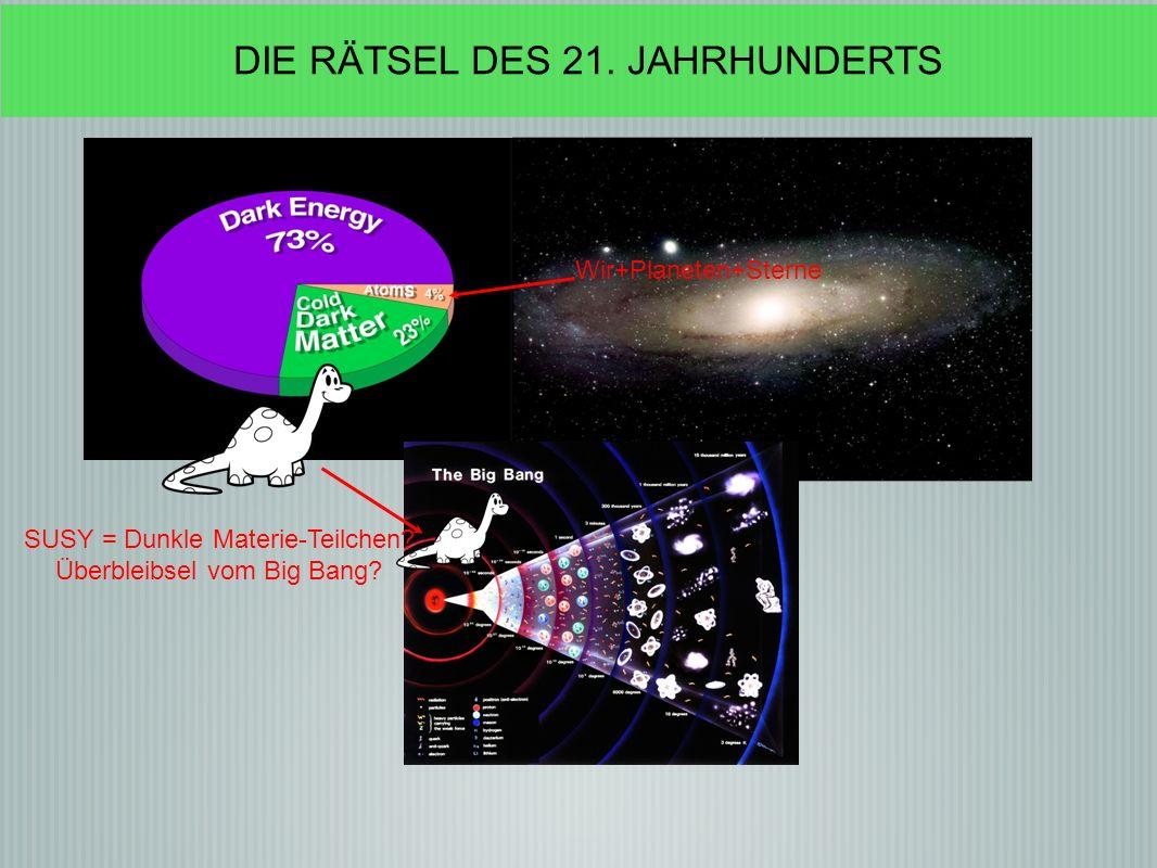 Wir+Planeten+Sterne SUSY = Dunkle Materie-Teilchen.