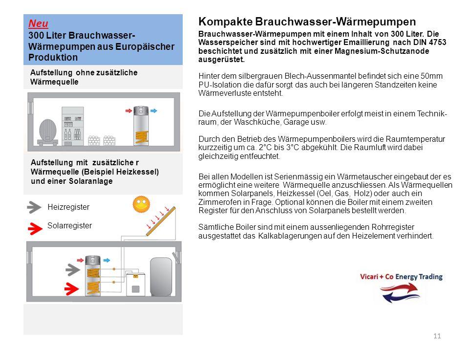 Neu 300 Liter Brauchwasser- Wärmepumpen aus Europäischer Produktion Kompakte Brauchwasser-Wärmepumpen Brauchwasser-Wärmepumpen mit einem Inhalt von 30