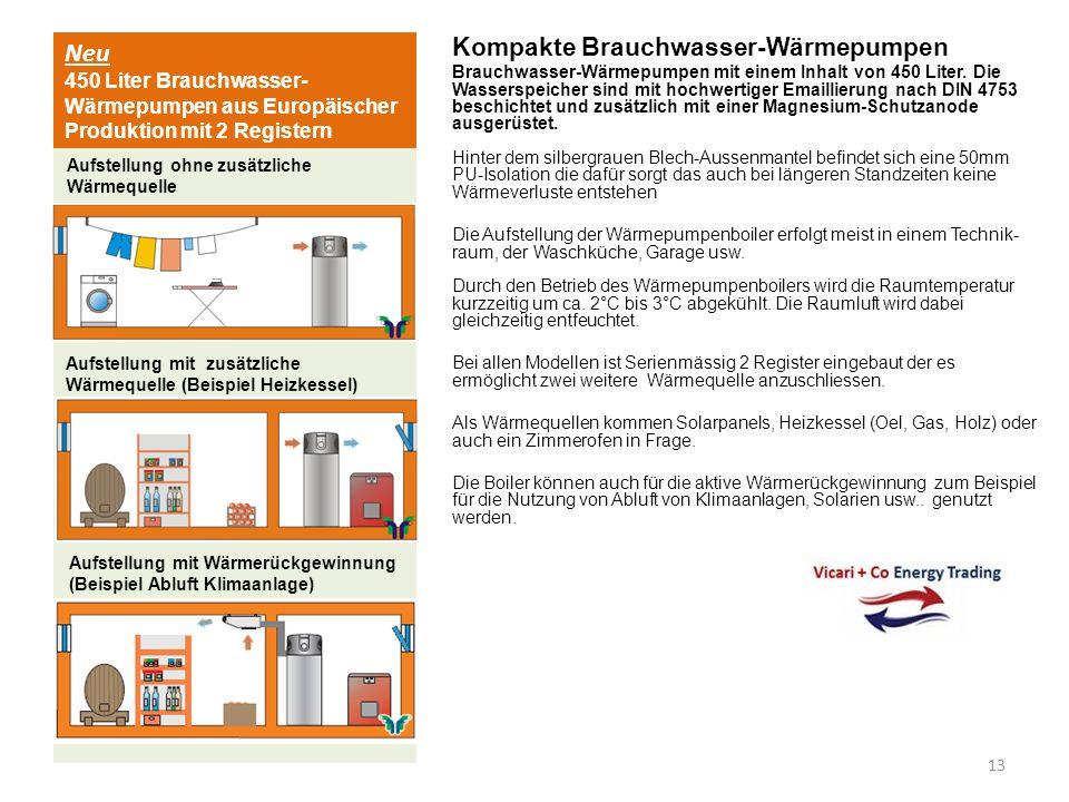 Neu 450 Liter Brauchwasser- Wärmepumpen aus Europäischer Produktion mit 2 Registern Kompakte Brauchwasser-Wärmepumpen Brauchwasser-Wärmepumpen mit ein