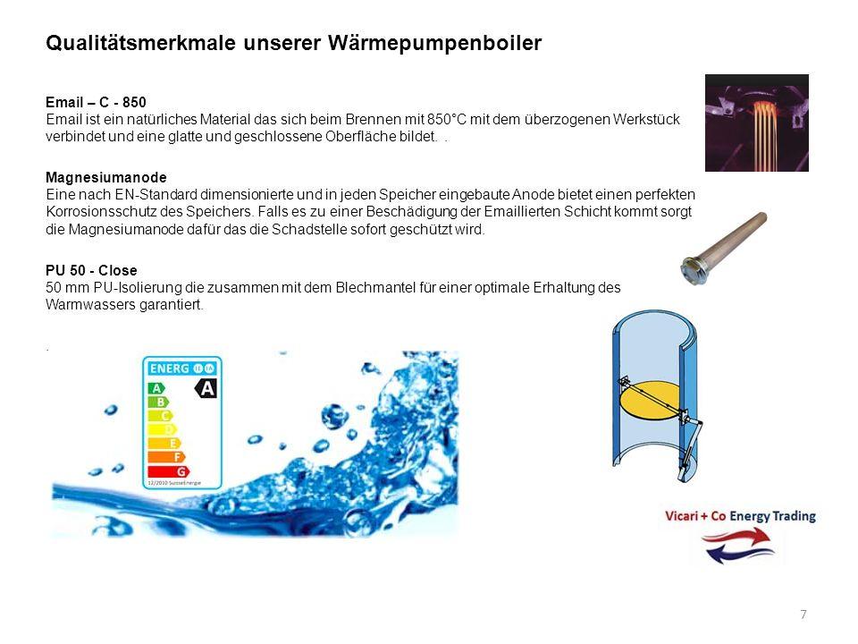 Neu 450 Liter Brauchwasser- Wärmepumpen aus Europäischer Produktion mit Luftführung Brauchwasser-Wärmepumpen mit Luftführung Heizleistung / Kompressor 2600 W oder 4900 W / Rotationskompressor garantiert eine stillen und Vibrationsfreien Betrieb.