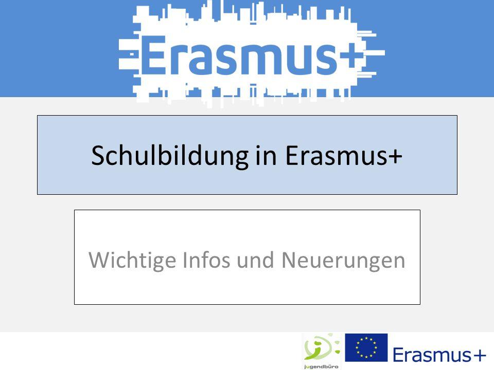 Schulbildung in Erasmus+ Wichtige Infos und Neuerungen