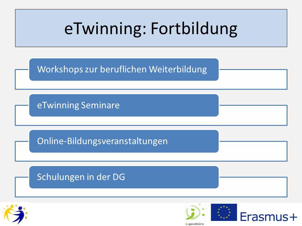 eTwinning: Fortbildung Workshops zur beruflichen WeiterbildungeTwinning SeminareOnline-BildungsveranstaltungenSchulungen in der DG
