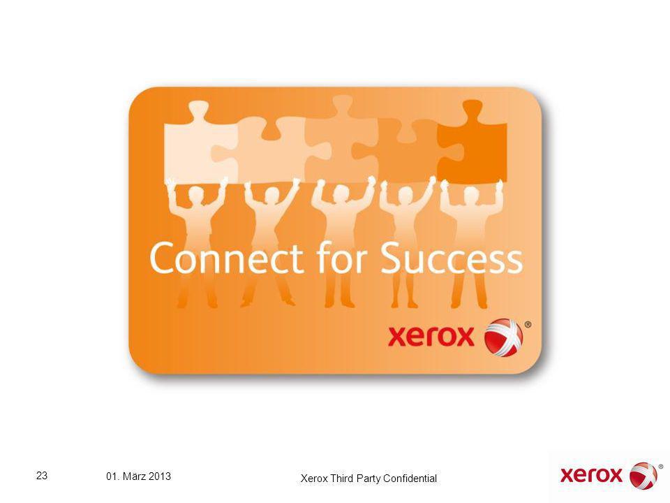 23 01. März 2013 Xerox Third Party Confidential