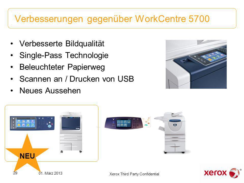 Verbesserte Bildqualität Single-Pass Technologie Beleuchteter Papierweg Scannen an / Drucken von USB Neues Aussehen Verbesserungen gegenüber WorkCentr