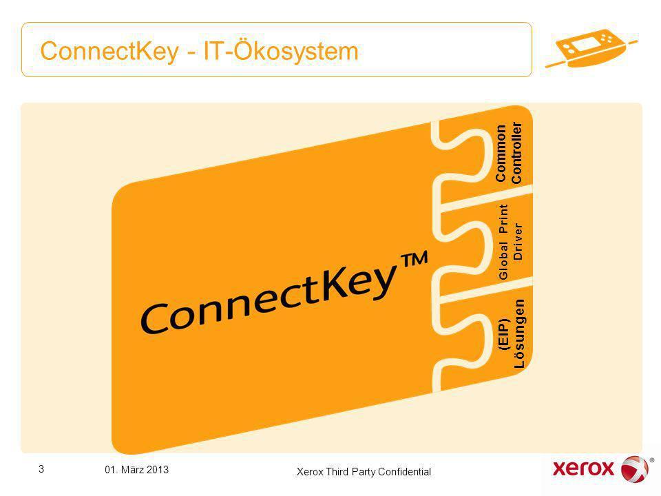 ConnectKey - IT-Ökosystem Common Controller (EIP) Lösungen Global Print Driver 3 01. März 2013 Xerox Third Party Confidential