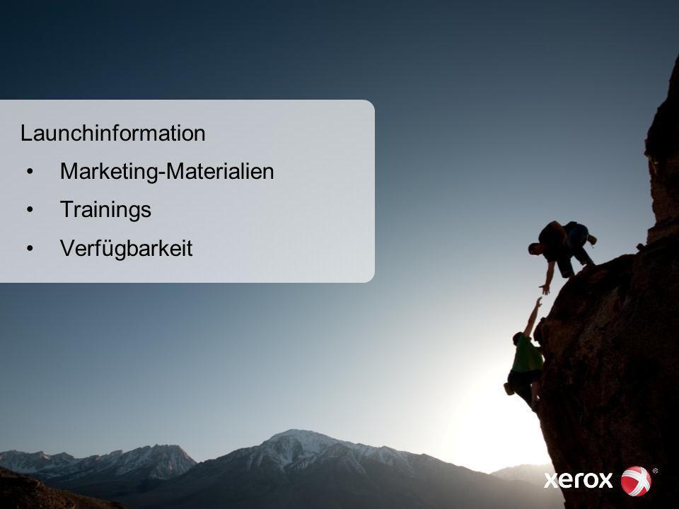 01. März 201354 Launchinformation Marketing-Materialien Trainings Verfügbarkeit