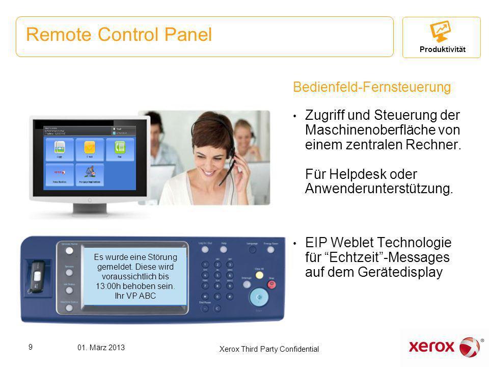 Bedienfeld-Fernsteuerung Zugriff und Steuerung der Maschinenoberfläche von einem zentralen Rechner. Für Helpdesk oder Anwenderunterstützung. EIP Weble