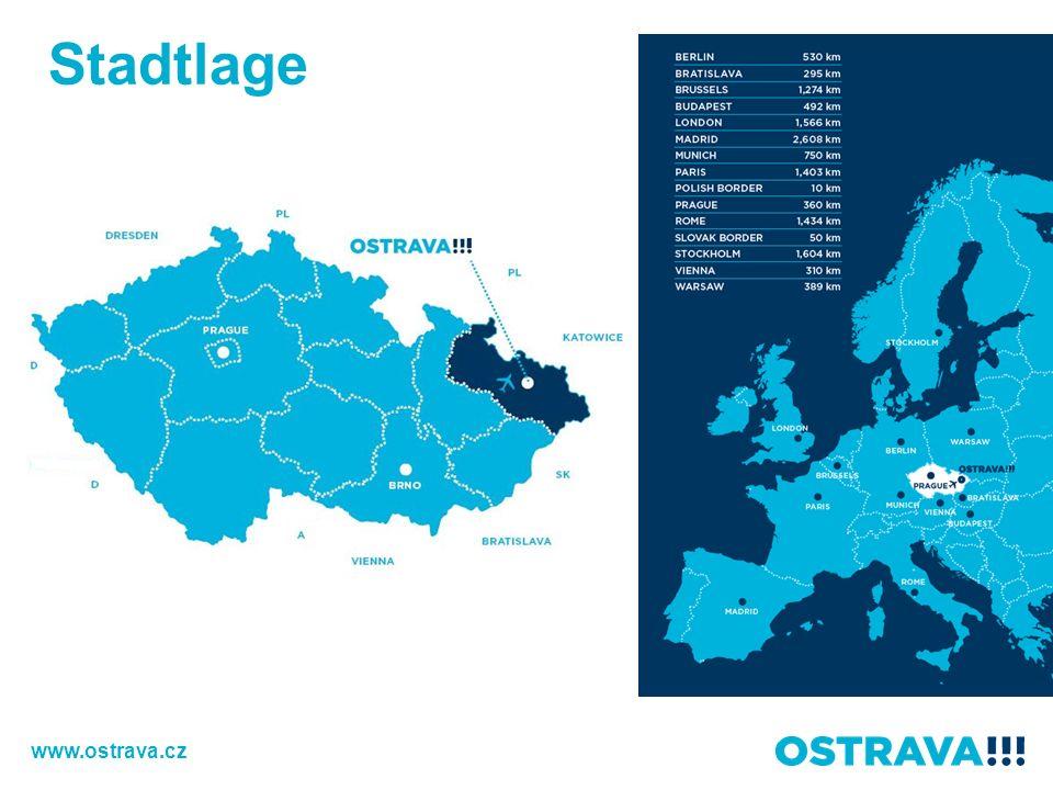 Stadtplan Prag Slovakei Polen 380 km 50 km 15 km Fläche: 214 km 2 www.ostrava.cz