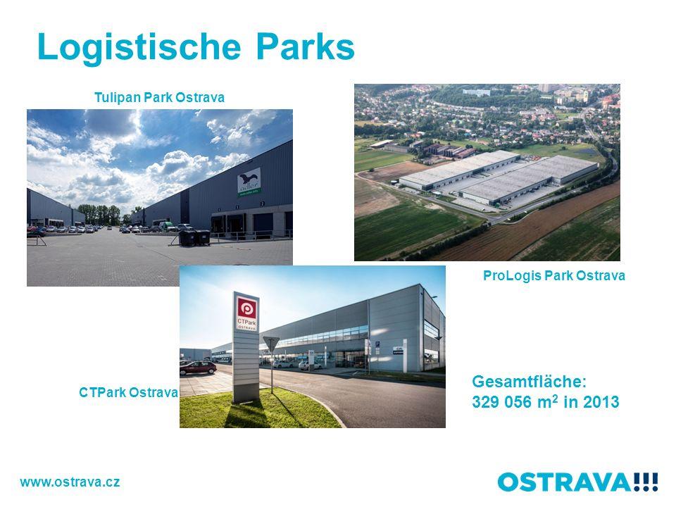 Tulipan Park Ostrava ProLogis Park Ostrava CTPark Ostrava Gesamtfläche: 329 056 m 2 in 2013 Logistische Parks www.ostrava.cz