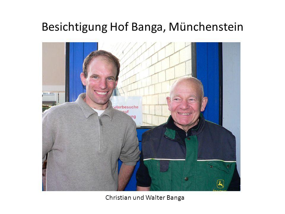 Besichtigung Hof Banga, Münchenstein Christian und Walter Banga