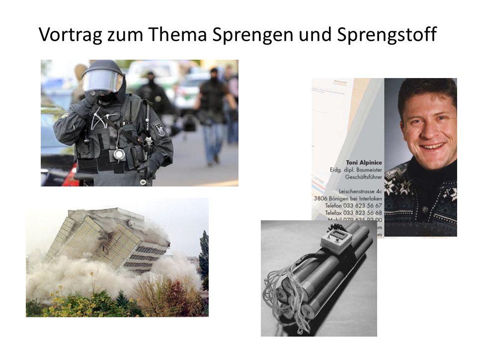 Vortrag zum Thema Sprengen und Sprengstoff