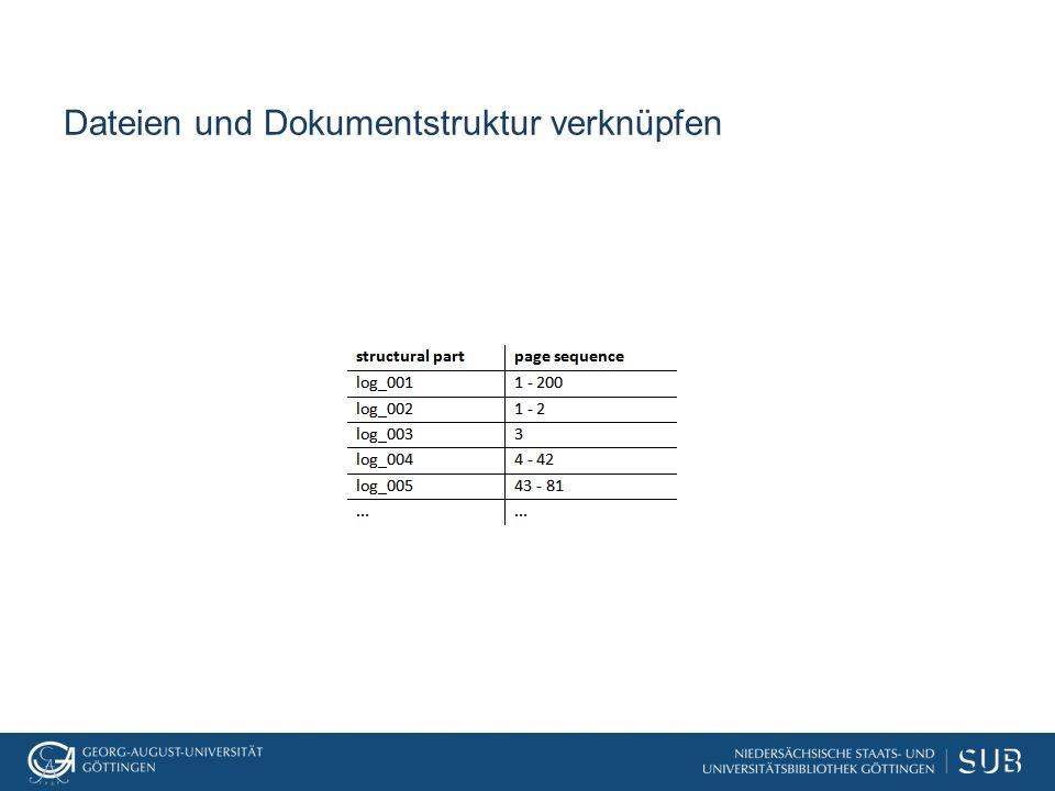 Dateien und Dokumentstruktur verknüpfen