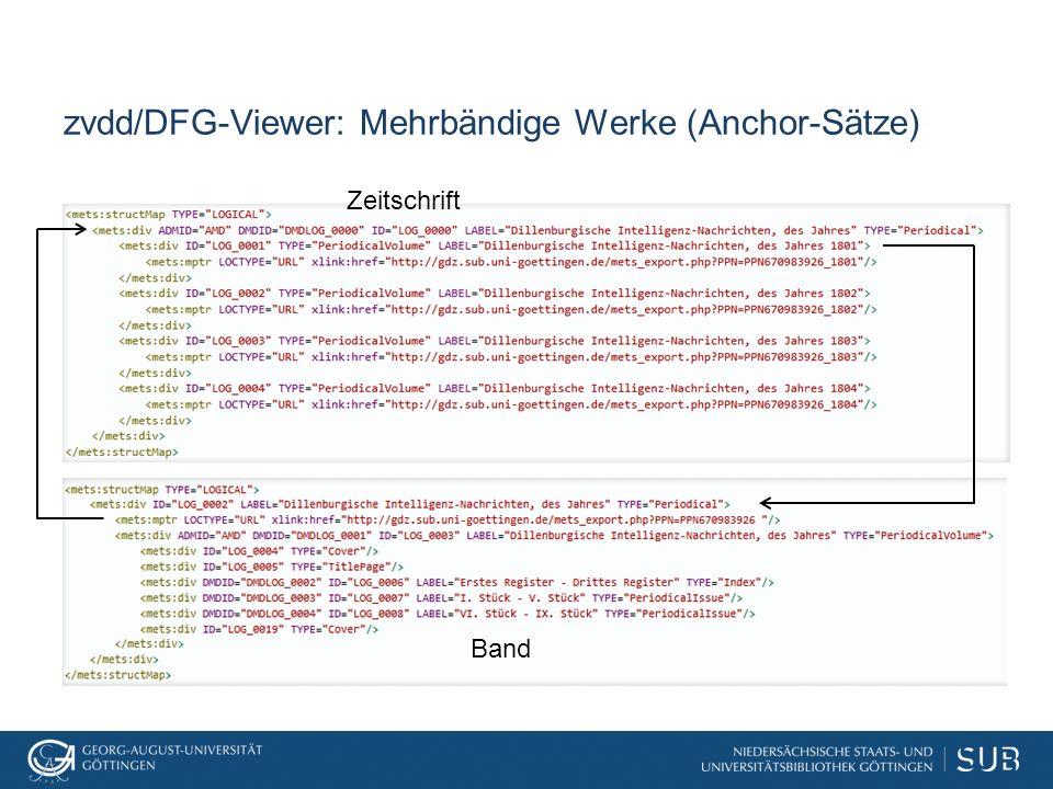 zvdd/DFG-Viewer: Mehrbändige Werke (Anchor-Sätze) Zeitschrift Band