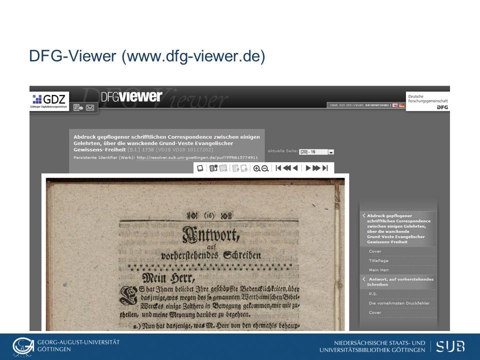 DFG-Viewer (www.dfg-viewer.de)