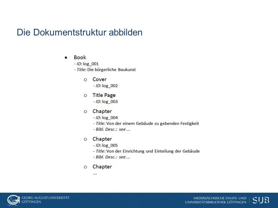 Die Dokumentstruktur abbilden