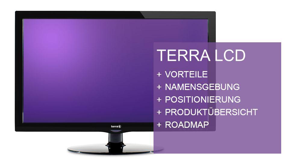 TERRA LCD VORTEILE NAMENSGEBUNG POSITIONIERUNG PRODUKTÜBERSICHT ROADMAP