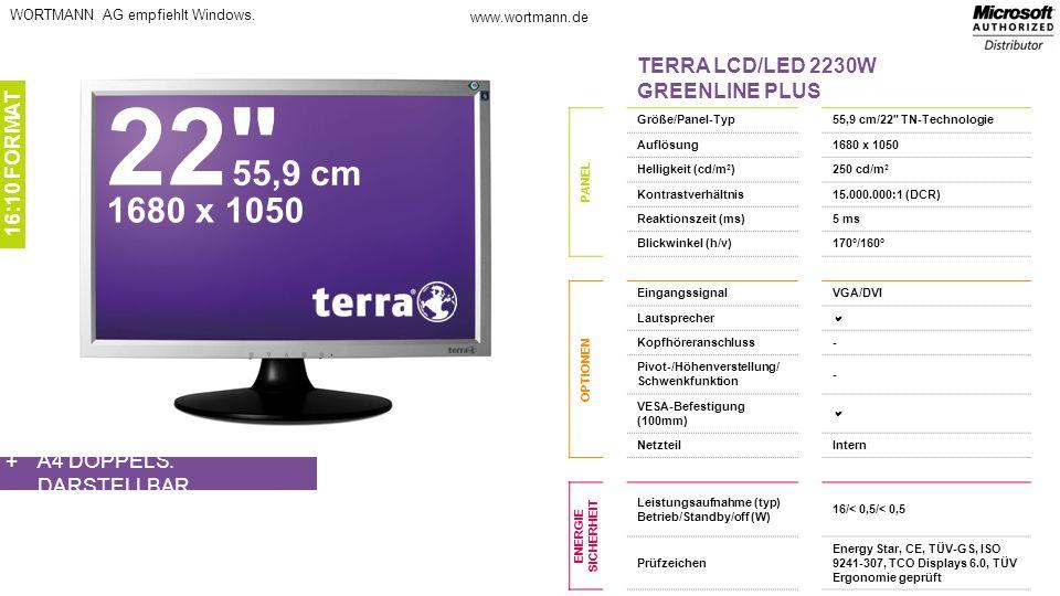 www.wortmann.de WORTMANN AG empfiehlt Windows.A4 DOPPELS.