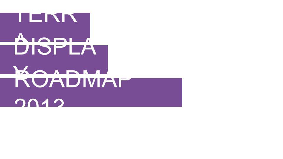 TERR A DISPLA Y ROADMAP 2013