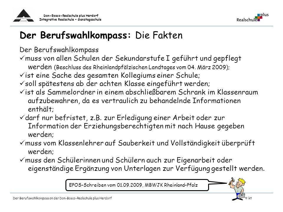 Don-Bosco-Realschule plus Herdorf Integrative Realschule – Ganztagsschule Der Praxistag im Bildungsgang Berufsreife Konzeptionelle und organisatorisch