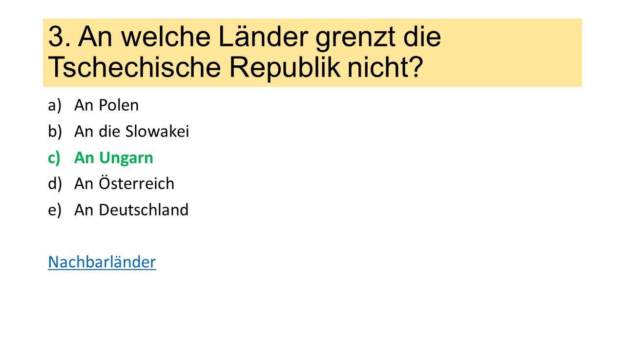 4.Wie groß ist die Tschechische Republik.