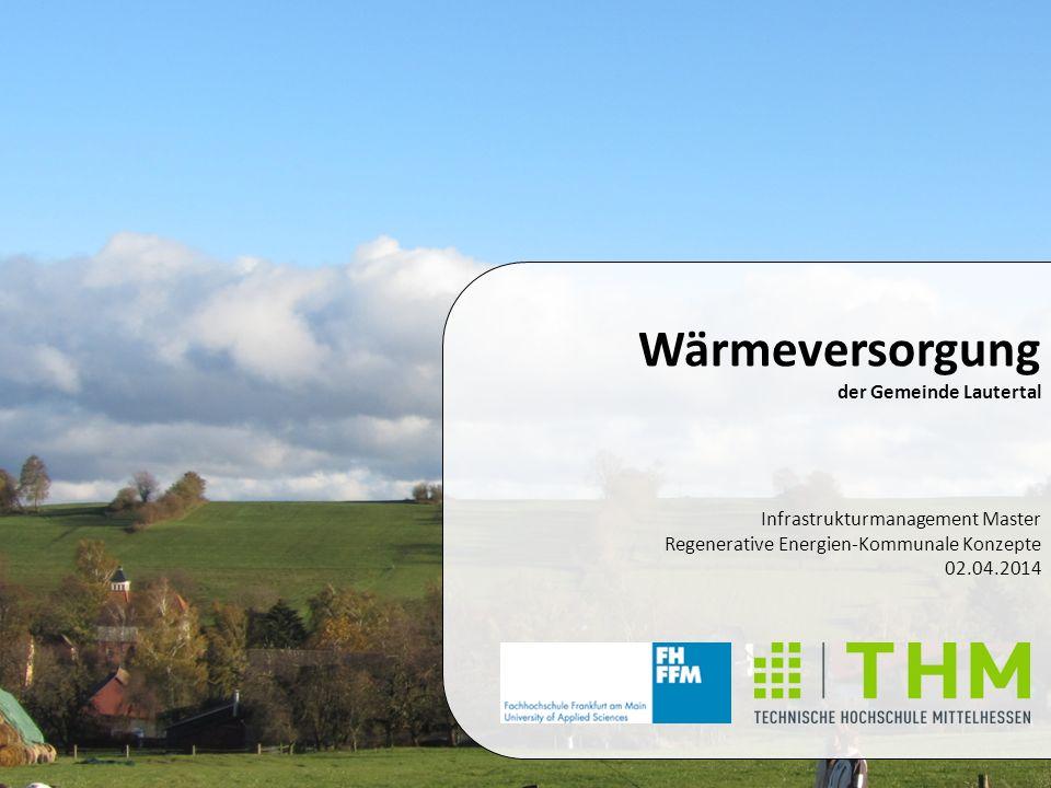 Infrastrukturmanagement Master Regenerative Energien-Kommunale Konzepte 02.04.2014 Wärmeversorgung der Gemeinde Lautertal