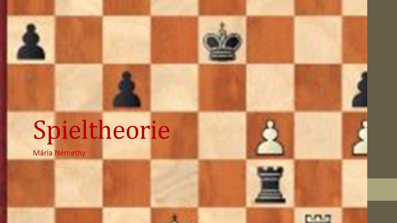 Spieltheorie Mária Némethy