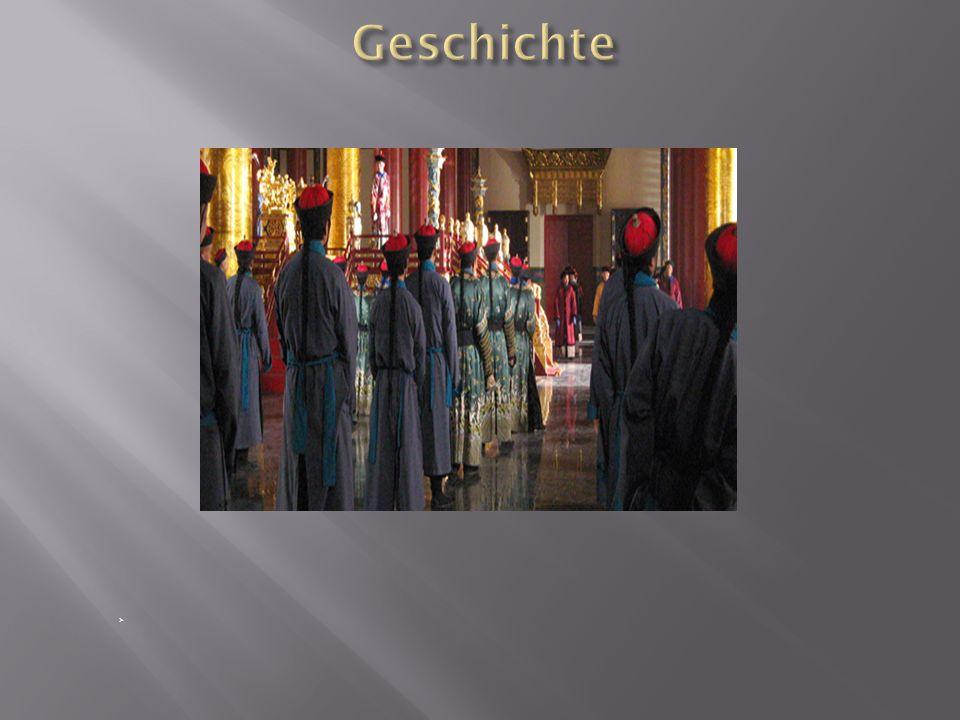 1420-1644 Sitz der Ming Dynastie 1644 Einzug des Bauernführers Li Zichengzog 1911 Letzte Revolution verwehrt Zutritt für normale Bevölkerung 1987: Weltkulturerbe