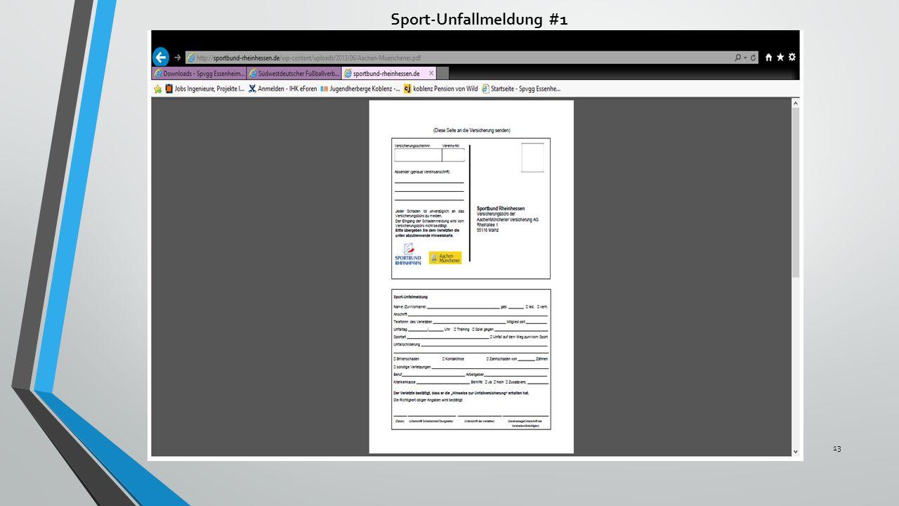 Sport-Unfallmeldung #1 13