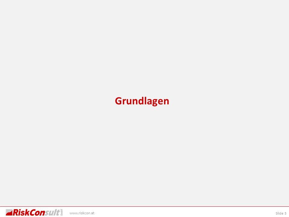 Slide 3 www.riskcon.at Grundlagen